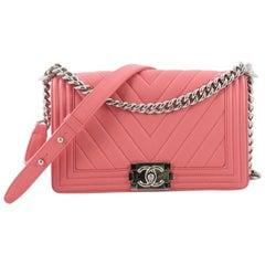 Chanel Boy Flap Bag Chevron Lambskin Old Medium