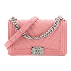 Chanel Boy Flap Bag Chevron Lambskin Old Medium