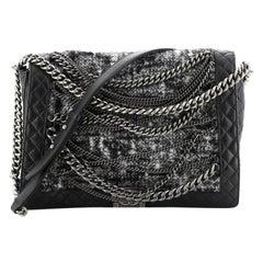 Chanel Boy Flap Bag Enchained Tweed XL