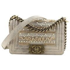 Chanel Boy Flap Bag Pearl Embellished Calfskin Small