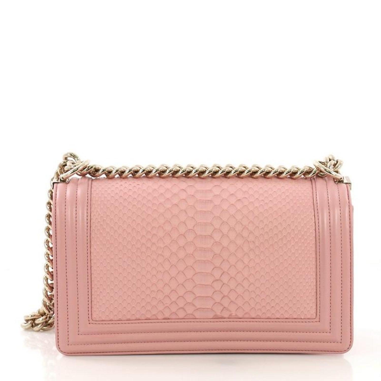 4ffe16a469a9 Chanel Boy Flap Bag Python Old Medium For Sale at 1stdibs