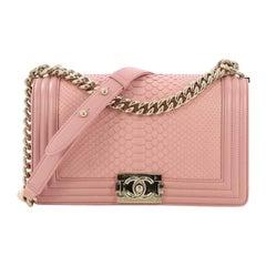 Chanel Boy Flap Bag Python Old Medium
