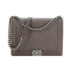 Chanel Boy Flap Bag Quilted Calfskin Large