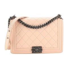 Chanel Boy Flap Bag Quilted Calfskin New Medium