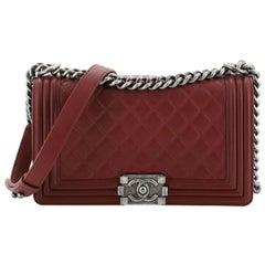 Chanel Boy Flap Bag Quilted Calfskin Old Medium