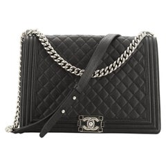 Chanel Boy Flap Bag Quilted Caviar Large