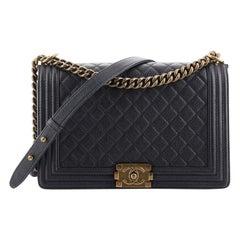 Chanel Boy Flap Bag Quilted Caviar New Medium
