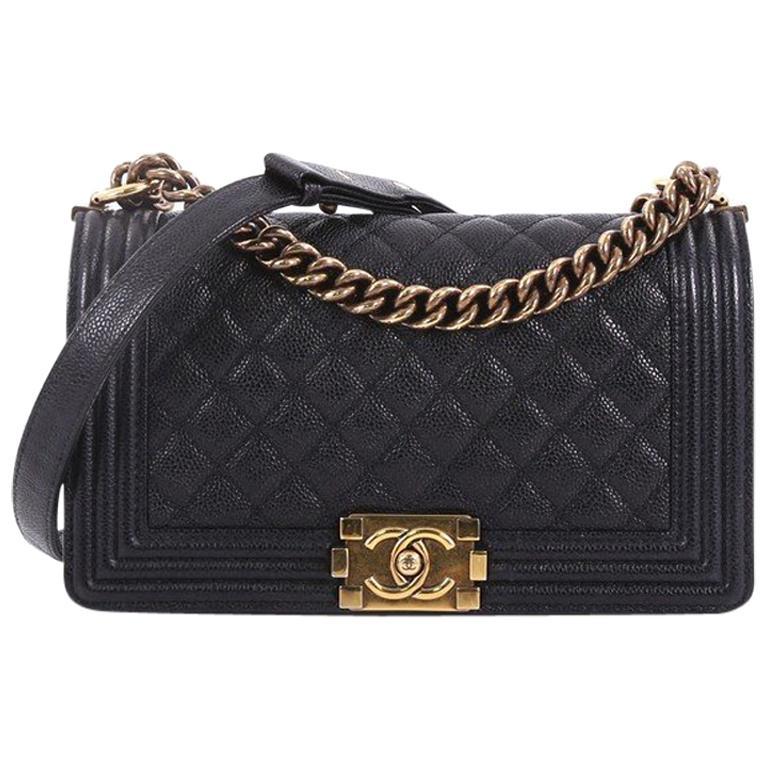 2602b68970161c Chanel Boy Flap Bag Quilted Caviar Old Medium at 1stdibs