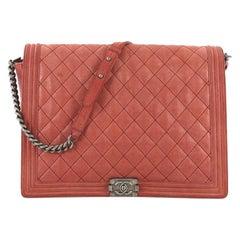 Chanel Boy Flap Bag Quilted Gentle Goatskin XL