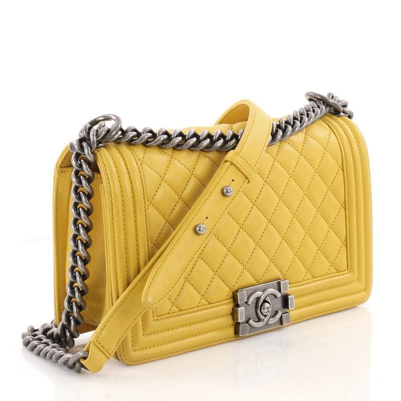 d1d8b20b4cc74f Chanel Boy Flap Bag Quilted Goatskin Old Medium at 1stdibs