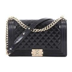 e0657d50c122 Chanel Boy Flap Bag Quilted Iridescent Glazed Calfskin New Medium