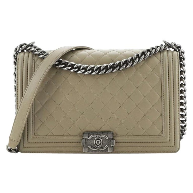 Chanel  Boy Flap Bag Quilted Lambskin New Medium For Sale