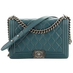 Chanel Boy Flap Bag Quilted Lambskin Old Medium