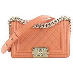 Chanel Boy Flap Bag Quilted Lambskin Small