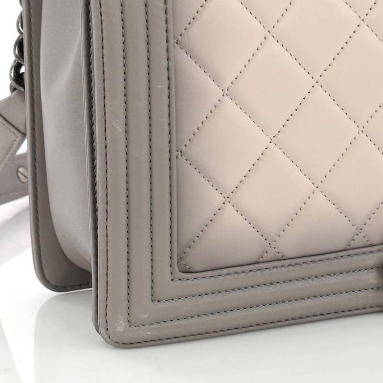 039299745048c6 Chanel Boy Flap Bag Quilted Ombre Calfskin Large For Sale 1