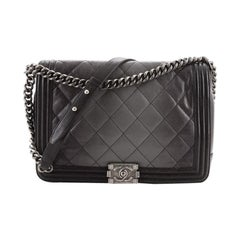 Chanel Boy Flap Bag Quilted Ombre Goatskin Large
