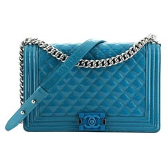 Chanel Boy Flap Bag Quilted Plexiglass Patent New Medium