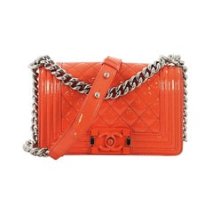 Chanel Boy Flap Bag Quilted Plexiglass Patent Small