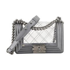 Chanel Boy Flap Bag Quilted PVC and Calfskin Small