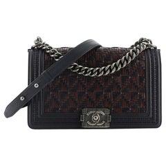 Chanel Boy Flap Bag Woven Calfskin Old Medium