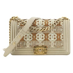 Chanel Boy Flap Bag Woven Leather Old Medium