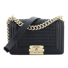Chanel Boy Flap Bag Woven Leather Small