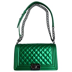Chanel, Boy in green patent leather