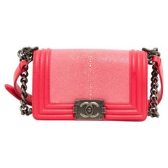 Chanel, Boy in pink exotic leather