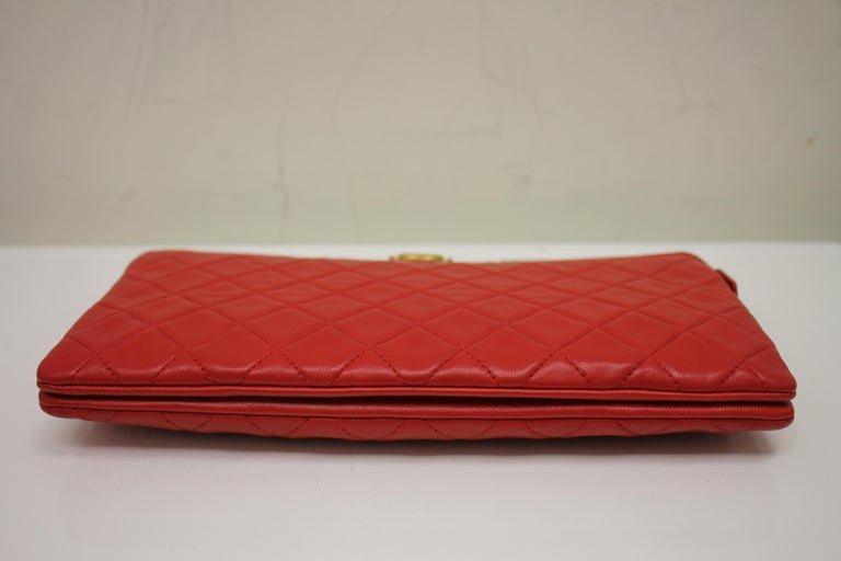 Chanel Boy Quilted Calfskin Clutch For Sale 2