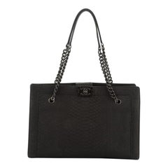 Chanel  Boy Shopper Python Large