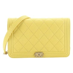 Chanel Boy Wallet on Chain Quilted Caviar