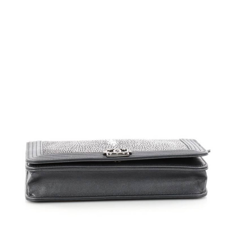 777d4b42ec6b82 Chanel Boy Wallet on Chain Stingray at 1stdibs