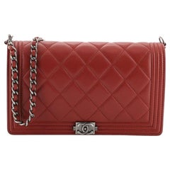Chanel Boy Wallet on Short Chain Quilted Lambskin