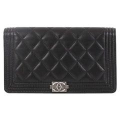 Chanel Boy Yen Wallet Quilted Lambskin