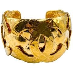 Chanel Bracelet Vintage 1990s CC Cuff
