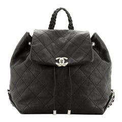 Chanel Braided With Style Drawstring Backpack Quilted Calfskin Medium