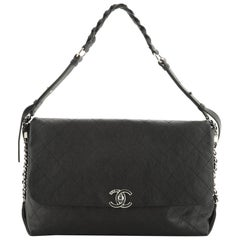 Chanel Braided With Style Flap Bag Quilted Grained Calfskin Large