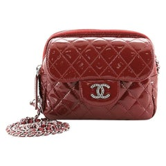 Chanel Brilliant Wallet Crossbody Bag Quilted Patent Leather Mini