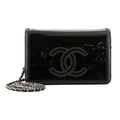 Chanel Brilliant CC Wallet on Chain Stitched Patent