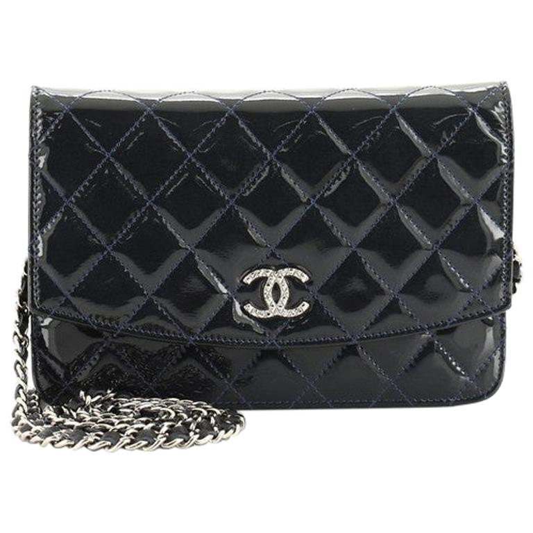 Chanel Brilliant Wallet on Chain Quilted Patent For Sale