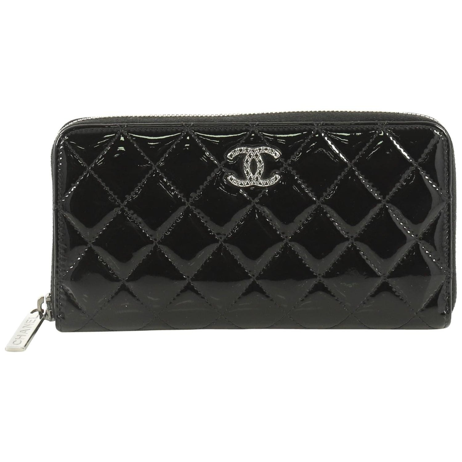 cf07b30b Chanel Brilliant Zip Around Wallet Quilted Patent Long