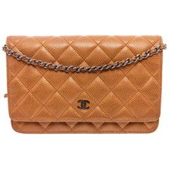 Chanel Bronze Caviar Leather Classic WOC Wallet On Chain Bag