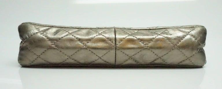 Women's Chanel Bronze Metallic Lambskin Reissue 226 Double Flap SHW Bag, Circa 2006 For Sale