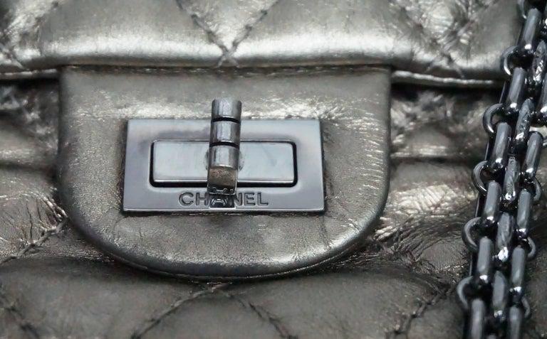 Chanel Bronze Metallic Lambskin Reissue 226 Double Flap SHW Bag, Circa 2006 For Sale 1