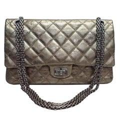 Chanel Bronze Metallic Lambskin Reissue 226 Double Flap SHW Bag, Circa 2006
