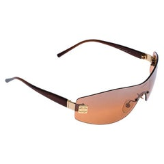 Chanel Brown 4019 Rimless Sunglasses