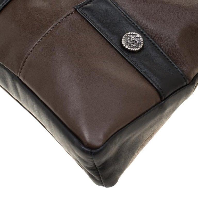 Chanel Brown/Black Leather Medium Girl Shoulder Bag For Sale 7