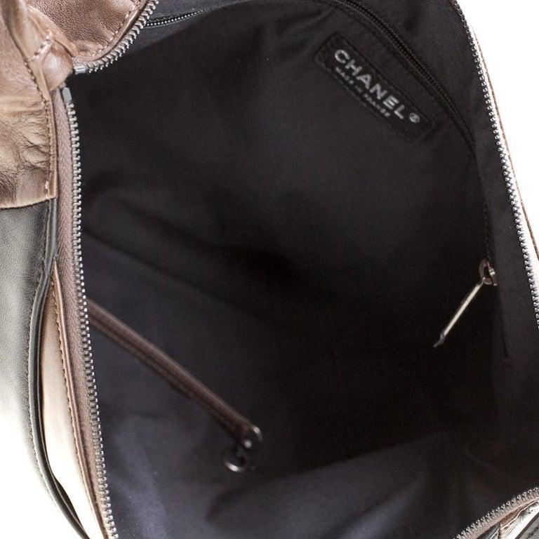 Chanel Brown/Black Leather Medium Girl Shoulder Bag For Sale 2