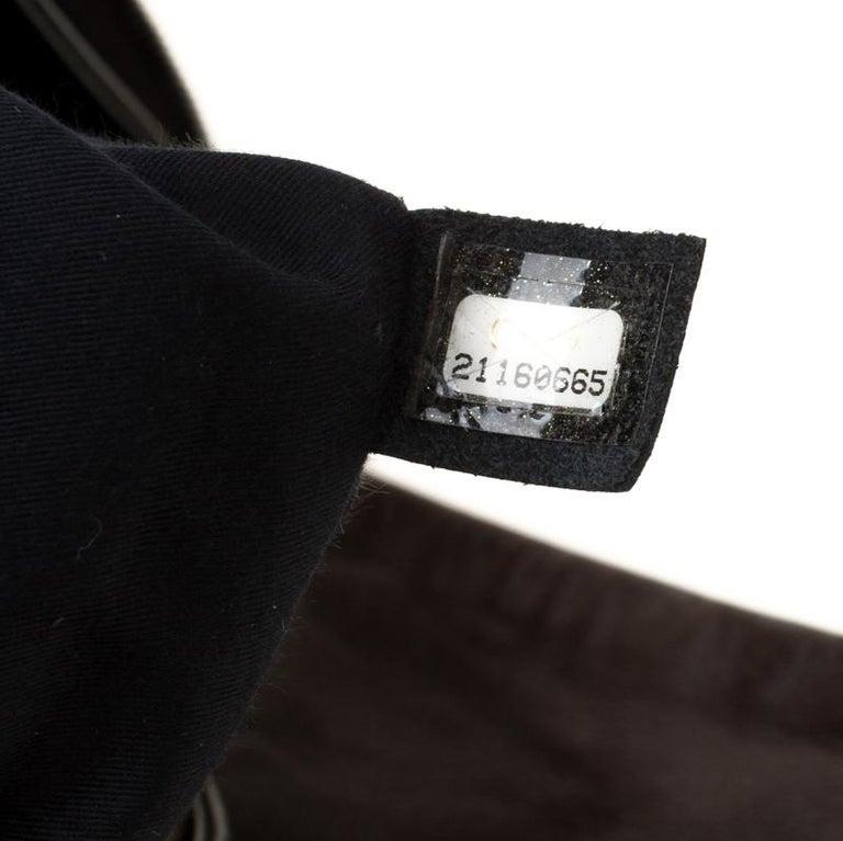 Chanel Brown/Black Leather Medium Girl Shoulder Bag For Sale 4