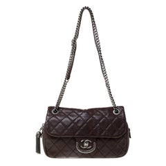 Chanel Brown Cambon 31 Rue Leather Quilted Flap Shoulder Bag